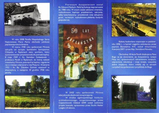 Broszurka wydana z okazji 50-lecia parafii (strona 2)