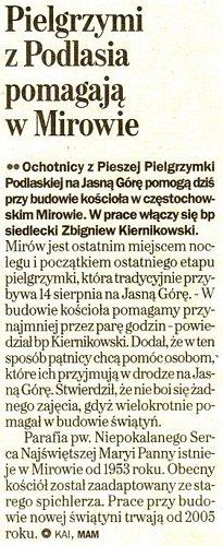 Napisali o Nas: Gazeta Wyborcza 24 sierpień 2007